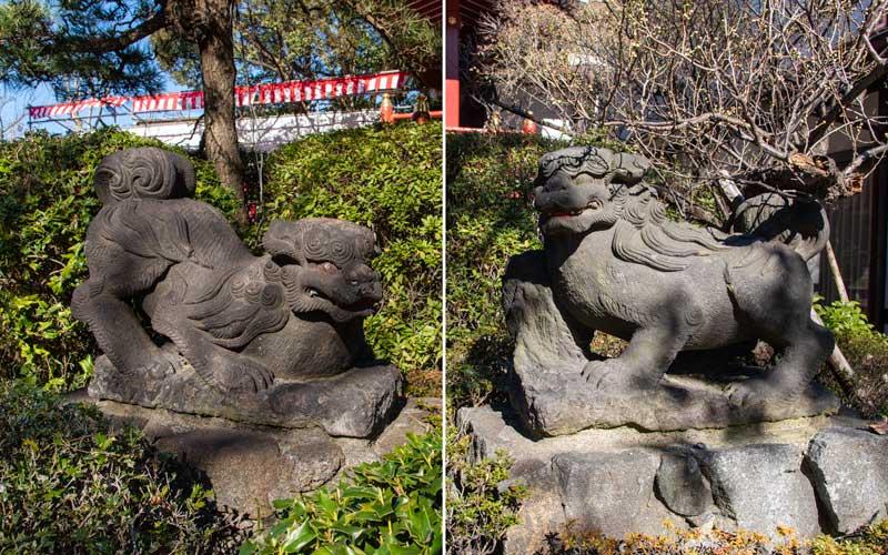 東大島神社 狛犬