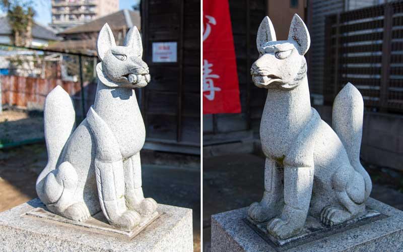 海神稲荷神社 狐