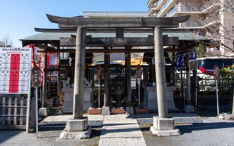 亀戸浅間神社 石造鳥居