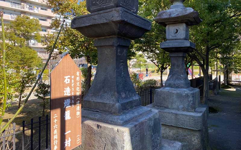 亀戸浅間神社 石造灯籠