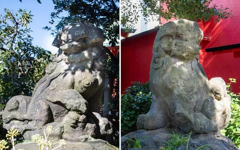 大島稲荷神社 狛犬