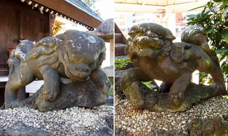 大島稲荷神社 佐竹神社狛犬