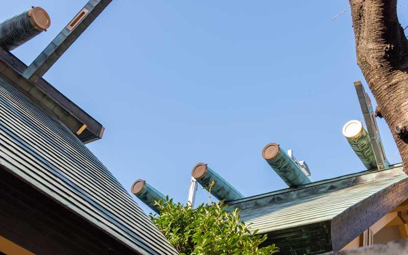 天祖神社 鰹木