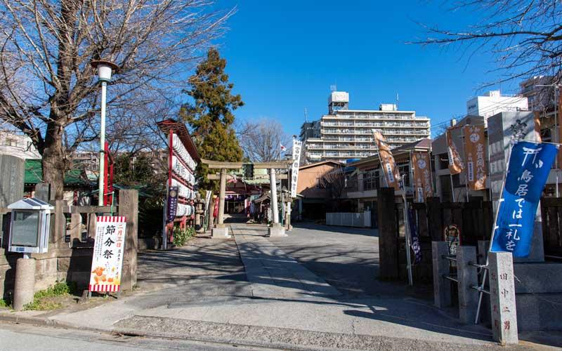 富賀岡八幡宮 入り口