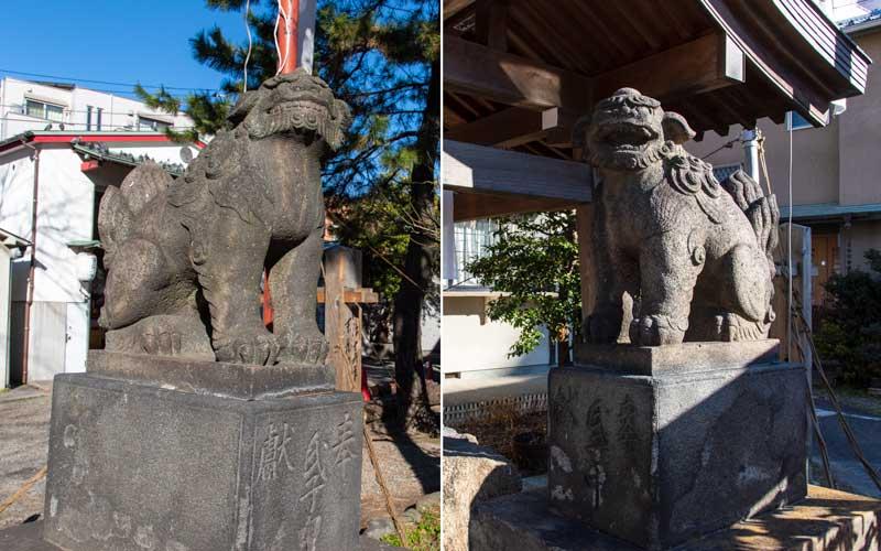 富賀岡八幡宮 狛犬