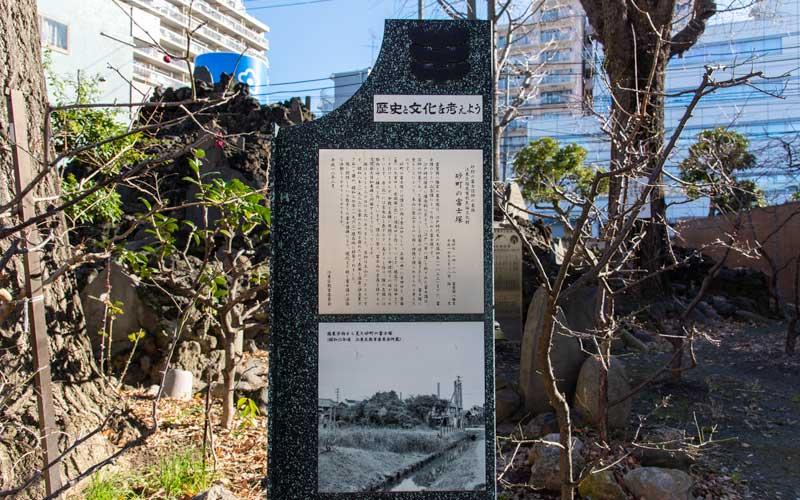 富賀岡八幡宮 砂町と富士塚