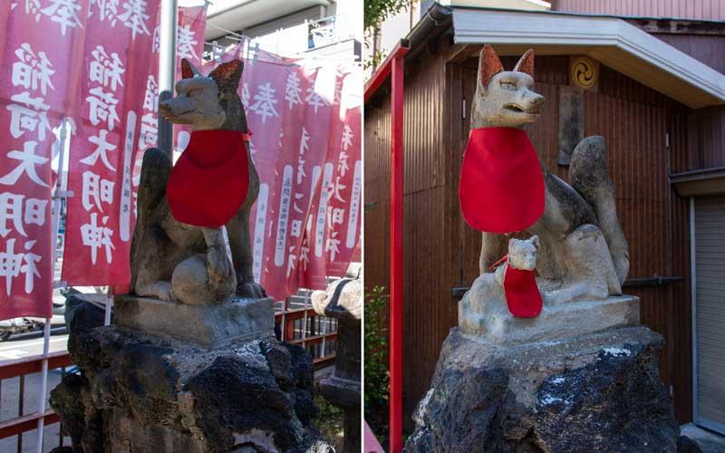 亀守稲荷神社 狐