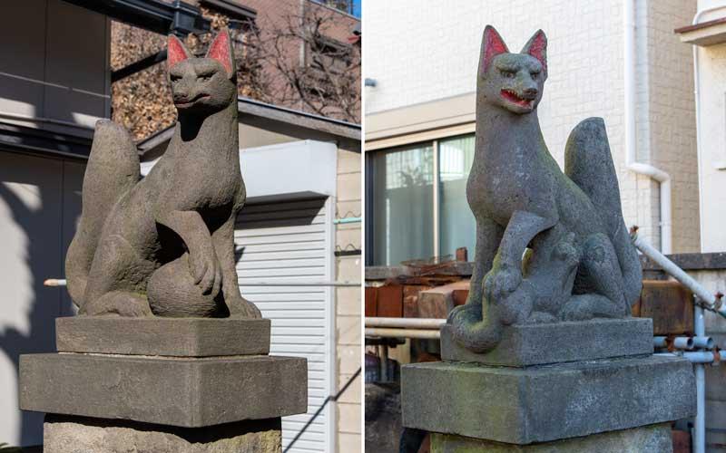 中田稲荷神社 狐