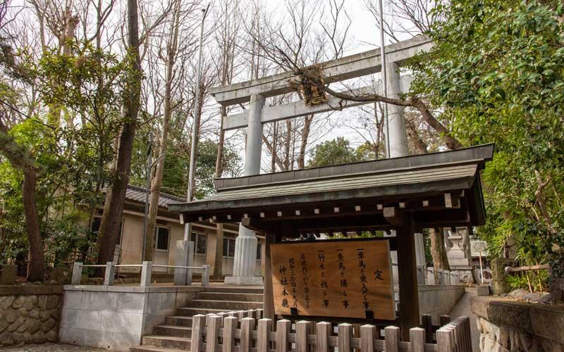 荻窪八幡神社 入り口