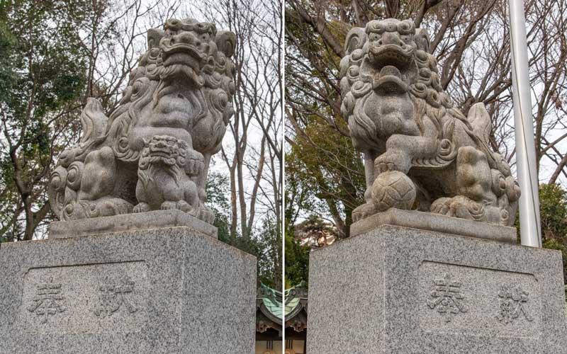 荻窪八幡神社 狛犬