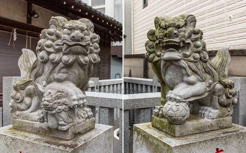 荻窪白山神社 境内社狛犬
