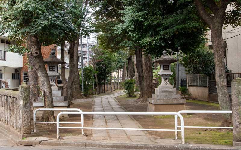 荻窪白山神社 参道